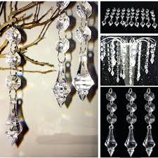 crystal beads for chandelier acrylic crystal beads garland chandelier hanging wedding party home decor plastic crystal