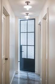 black glass pane door