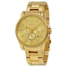 armani exchange champagne dial chronograph men s watch ax2099
