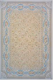 area rugs aubusson hand woven wool beige brown blue area rug