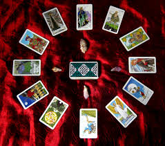 tarot cards arranged in circle