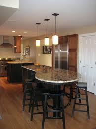 Unique Kitchen Flooring Black Unique Kitchen Island With White Granite Countertop Also