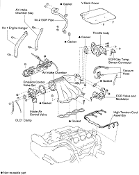 1995 toyota camry removing air intake you have diagrams mechanical that is for a 1995 toyota camry 3 0l 1mz fe below is the diagram for the intake manifold