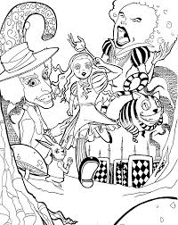 Small Picture Alice in wonderland coloring pages movie for kids printable free