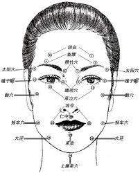 Acupuncture Facelift Points Chart Acupuncture Points Chart Face Lift Acupuncture Points