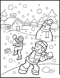 Winter Color Sheet Preschool 4 Seasons Coloring Pages Winter