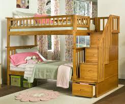 Kids Bedroom Furniture Bunk Beds Columbia Staircase Bunk Bed Caramel Latte Bedroom Furniture