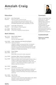 Real Estate Agent Resume Newfangled Concept Templates The Examples
