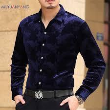 Designer Shirt With Holes Mu Yuan Yang Long Sleeve Shirt Men Autumn New Fashion