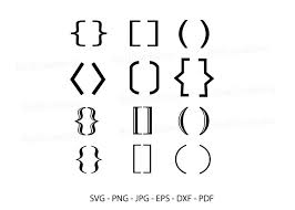 Freeicons is a free platform for download vector icons in svg, png, eps, ai and psd format. Brackets Svg Brackets Set Icon Graphic By Redcreations Creative Fabrica
