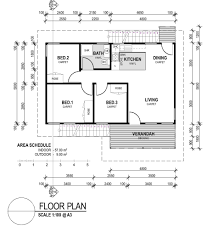 Small 3 Bedroom House Floor Plans Small 3 Bedroom House Plans Home Office