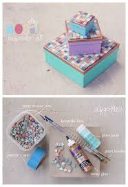 Mosaic keepsake boxes