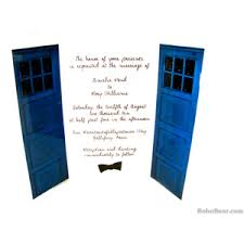 dr who wedding invitations. wedding invitations, blue police box invites for geek weddings, 1 sample card dr who invitations i