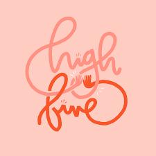 High Five Design Tyler Elises Portfolio High Five Lettering Lettering