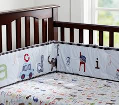 alphabet crib sheet animal alphabet baby bedding set pottery barn kids