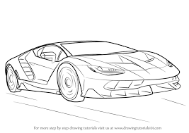 cool cars drawings easy. Modren Easy Learn How To Draw Lamborghini Centenario Sports Cars Step By  Drawing  Tutorials Intended Cool Cars Drawings Easy