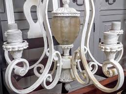 easy painted chandelier makeover tutorial general finishes antique white chandelier