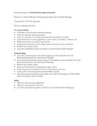 Endearing Housekeeping Houseman Resume On Sample Resume Of