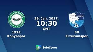 1922 Konyaspor BB Erzurumspor live score, video stream and H2H results -  SofaScore