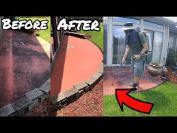 how to clean concrete with no pressure