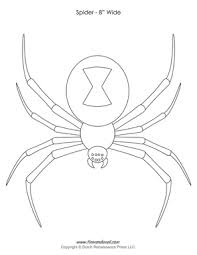 Spider Pattern Printable Halloween Spider Templates Decorations Spider Clip Art