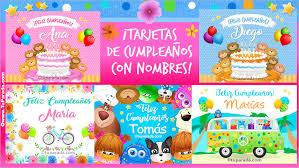 Tarjetas Para Cumpleaños Con Nombres Postales Con Tu Nombre