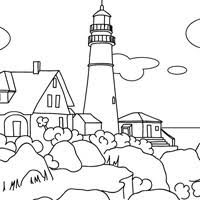 Small Picture Places coloring pages for kids