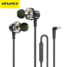 <b>Awei ES 10TY</b> Metal Wired Earphone Stereo Headset In Ear Noise ...