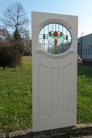 4 1930 s oval stained glass door 3
