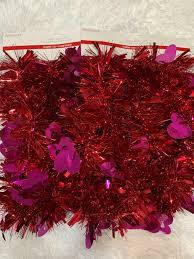 Ashland Led Light Garland Ashland Valentines Day Tinsel 9 Ft Garland Hearts Love Red