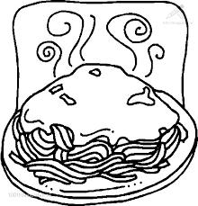 Kleurplaat Eten En Drinken Eten Kleurplaat Spaghetti