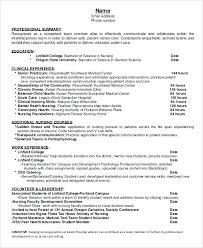 Pediatric Nurse Resume Sample Entry Level Nursing Resume Template