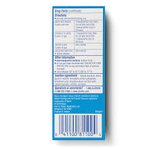 side view of children s claritin syrup 24 hour package g taste