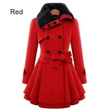 wish plus size s 4xl fashion women lady fur collar peacoat paka trench coat ol coat winter overcoat long skinny jacket outwears candy color 5colours