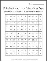 Math Is Fun Multiplication Chart Free Halloween Activity Multiplication Mystery Picture