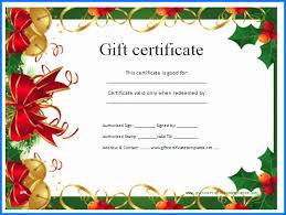 free printable christmas gift certificate templates printable christmas gift certificates best free christmas printable