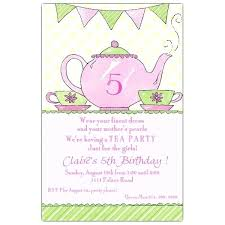 Kids Tea Party Invitation Wording Princess Tea Party Invitations Princess Tea Party Invitation Wording