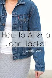 how to alter a jean jacket sew a denim jacket melly sews
