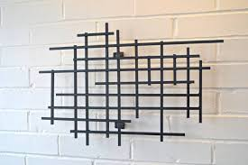 small square metal art sculpture modern steel decor decoration 3d within most cur 3d metal wall