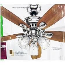 hunter highbury ii 52 in led indoor brushed nickel ceiling fan w light kit