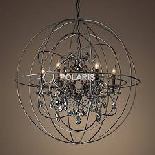 free vintage orb crystal chandelier lighting black candle throughout idea 0