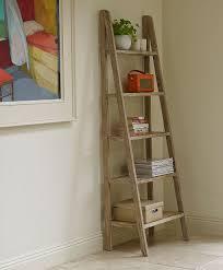 home accessories ingenious ladder shelf ideas stupefying ladder shelf corner design features rustic wooden
