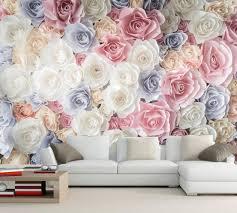 Roses Flowers Wallpapers Many Texture Rose Flower Wallpaper 3d Wall Mural Living Room Tv Sofa