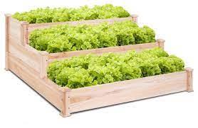 costway wooden raised vegetable garden