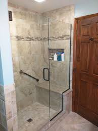 Part Tiled Bathrooms New Shower Replaced The Old Jacuzzi Tub My Bathroom Pinterest