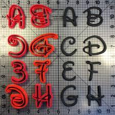 Disney Font Disney Font Uppercase Cookie Cutters