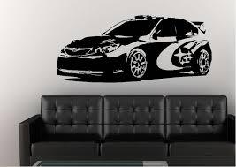 transport subaru rally car wall stickers
