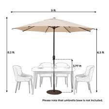 abba patio 9 ft outdoor table market
