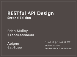 slideshare api restful api design second edition by apigee via slideshare apis