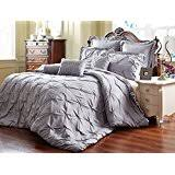 Amazon.com: California King - Comforter Sets / Comforters & Sets ... & Unique Home 8 Piece Reversible Pinch Pleat Comforter Set Fade Resistant,  Wrinkle Free, No Ironing Necessary, Super Soft, Cal King, Grey Adamdwight.com